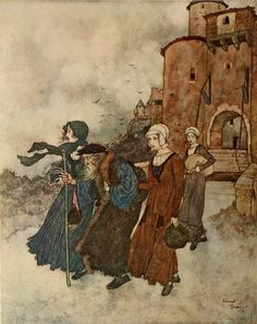 Edmund Dulac (1882-1953) illustrations for 'The Wind's Tale'  Found here