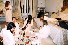 This looks so glamorous. Makeup, friends, champagne, strawberries, and the Ritz hotel in Paris