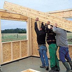 Pose des cloisons intérieures Wooden Decks, Pergola, Outdoor Structures, France, Architecture, Aide, Plans, Garden, Houses