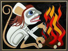 Mouse Woman - Dean Hunt - Acrylic on Canvas Native Canadian, Native American Art, Modern Indian Art, Grace Art, Tlingit, Maori Art, Artist Biography, Native Art, First Nations