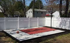 I need to paint our basketball court in our backyard. Not exactly sure how I am painting it yet though. My daughter Trinity loves it!