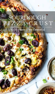 Simple to pull together with only minutes of hands on time. Make it with bread or all purpose flour. Sourdough pizza crust is a homemade pizza game changer! Deep Dish Pizza Crust Recipe, Vegan Pizza Recipe, Vegetarian Pizza, Pizza Recipes, Beef Recipes, Crust Pizza, Pizza Pizza, Sourdough Pizza, Sourdough Recipes