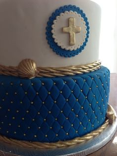 Cross for Cake First Communion Boy by SweetThingTopperShop