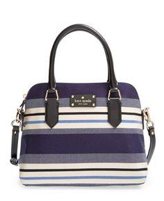 Kate Spade striped satchel  http://rstyle.me/n/uyj72pdpe