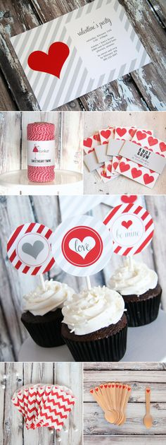 Valentines Day party goodies from @Matt Valk Chuah TomKat Studio on The Sweetest Occasion #laylagrayce #holidays #valentines