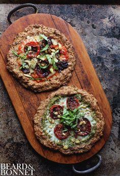 Individual Cauliflower Crust Pizza's {Beard and Bonnet} #glutenfree