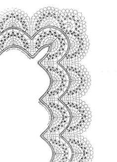 Los dos, foto y picado - Choni Encajeras - Picasa Web Albums Irish Crochet, Crochet Shawl, Crochet Lace, Bobbin Lace Patterns, Embroidery Patterns, Bobbin Lacemaking, Point Lace, Needle Lace, Lace Making