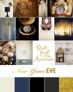 *Yasmen Katrina Events* New Years Eve Inspiration Board {http://blog.ykweddingsevents.com/2014/12/new-years-inspiration.html}