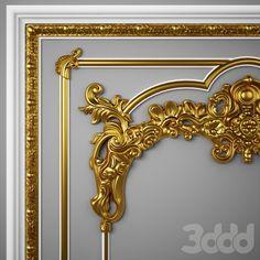 3d модели: Лепнина - Лепная панель 2014
