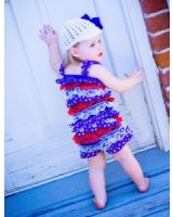 Cute lace romper for July 4th parade or party!
