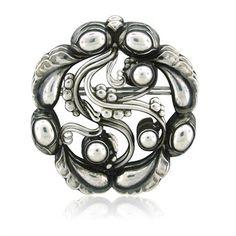 Georg Jensen Denmark Sterling Silver Brooch Pin Number 159 #ClayJensenSterlingSilver