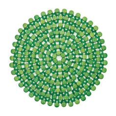 Round Bamboo Placemat by Kim Seybert | Green | Set of 4
