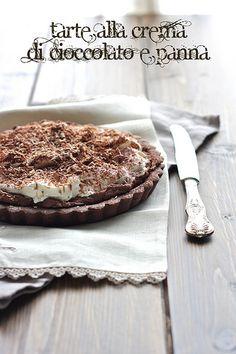 La tana del coniglio: Tarte alla crema di cioccolato e panna