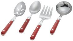 Ginkgo Le Prix 4Piece Stainless Steel Hostess Serving Set Milano Red * Be sure to check out this awesome product.Note:It is affiliate link to Amazon.