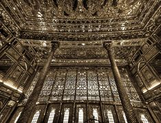 "The Hall of Mirrors also called ""The Hall of Diamonds"" because of the exceptional mirror work inside the building.The construction of this hall dates back to 1806. Iran, Teheran"