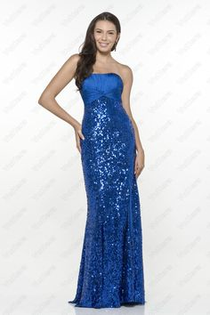 Sequin Strapless Ruched Royal Blue Evening Dress - Vuhera.com Royal Blue Evening Dress, Blue Evening Dresses, Bridesmaid Dresses Online, Prom Dresses, Formal Dresses, Dress P, Party Dress, Diamond Dress, Discount Dresses
