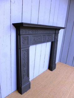 Antique Victorian Cast Iron Fire Surround - Fire Place Living Room Fireplaces