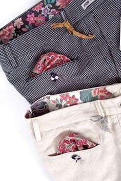 Trouser waistband and pocket flap details Men Trousers, Trouser Pants, Fashion Pants, Mens Fashion, Style Masculin, Pant Shirt, Cotton Pants, Stylish Men, Pattern Fashion