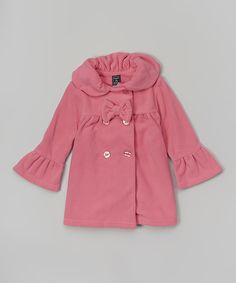 Another great find on #zulily! New Rose Bow Peacoat - Infant, Toddler & Girls by Mack & Co #zulilyfinds