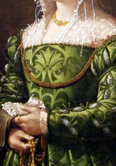 Portrait of a Lady, Detail. by Alessandro Allori  Dated: c. 1560