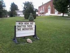 Seeing is not always believing, but have faith-- these signs are hilarious...