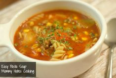 Do you ever have nights when you simply need something to eat that's quick and easy?  I have those nights!  Especially right now!  I had intended to make this a Lasagna Soup and if you have lasagna noodles on hand then it's easy to do; however, I happened to have pasta spirals, so this will …