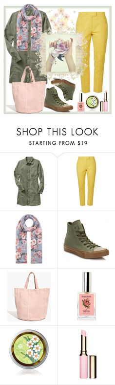 """""""Easy spring style"""" by natalyapril1976 on Polyvore featuring Gap, Orla Kiely, Accessorize, Converse, Madewell and Clarins"""