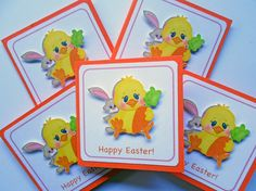 Happy Easter Cards Easter Mini Cards Easter by DreamsByTheRiver