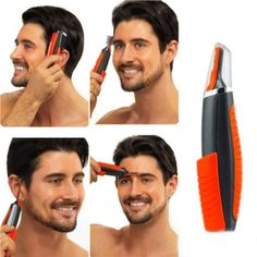 All in One Hair Trimmer Shaver – GenieMania Fr Moustache, Trimming Nose Hair, Sideburns, One Hair, Unwanted Hair, Head To Toe, Facial Hair, Shaving, Sensitive Skin