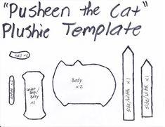 Pusheen the cat .Moldes peluches kawaii