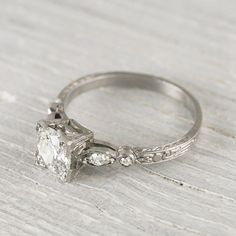 Vintage .99 Carat Old European Cut Diamond Engagement Ring on Etsy, $7,800.00