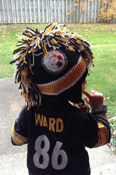 Pittsburgh Steelers Crochet Hats.  by AmandaArtsAndCrafts on Etsy, $18.00