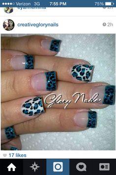 My cheetah nails!!!!
