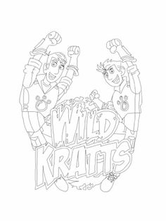 Wild Kratts - Kratt brothers coloring page. Full size printable ...