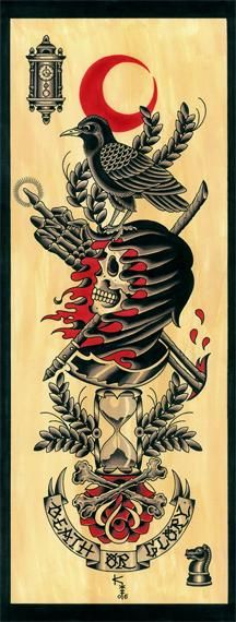 Death or Glory Tattoo Flash | KYSA #ink #tattooflash #tattoo