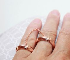 Double Band Chained Ring |Pinned from PinTo for iPad|