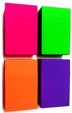 KING SIZE CIGARETTE STRONG PLASTIC BOX CASE HOLDER CIGARETTES PACK PUSH BUTTON