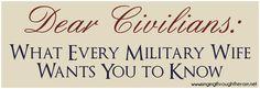 Dear Civilians - Military life 2