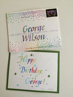 A Few Days Before Georges Birthday I Mentioned It On The Blog And Invited People