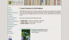 LIS Trends: PickTextBooks - Find the Right Textbook