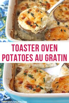 The ULTIMATE comfort food, Toaster Oven Potatoes Au Gratin are rich, creamy, and so indulgent. This small batch recipe uses simple ingredients and is easy to throw together. The perfect side dish for your holiday table for two (or just for you! Small Potatoes Recipe, Making Baked Potatoes, Potatoes In Oven, Potatoes Au Gratin, Toaster Oven Cooking, Convection Oven Recipes, Toaster Oven Recipes, Toaster Ovens, Scalloped Potatoes Easy