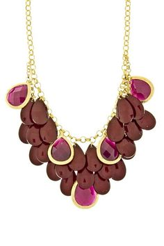 The Peacock Necklace {Purple}   LOVE @Swell Caroline, it'll look amazing with blazers/heels