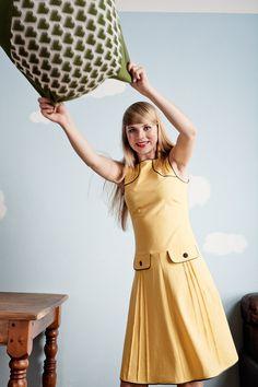 Gelbes 60er Jahre Jerseykleid from Peppermint-Patty by DaWanda.com