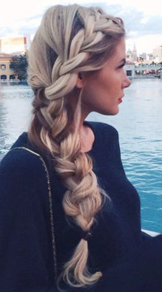 Blonde and braided