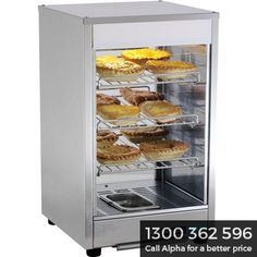 Pie warmers for the hospitality industry come in a variety of styles with a range of features. Pie Warmer Displays from Alpha Catering Equipment afford you more space to display your pies in a very attractive and easy to browse manner. The sizes of pie warmers range from approximately 30 pies through to 100 and this is a decision that you will make based on your demand.