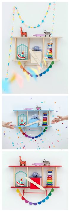 The cutest shelves for kids rooms