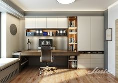 domácí pracovna - návrhy a realizace od studia linie design Charles Eames, Corner Desk, Studios, Conference Room, Chair, Table, Furniture, Home Decor, Corner Table