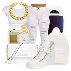 """""""B E A U T Y"""" by honey-cocaine1972 ❤ liked on Polyvore featuring Kate Spade, MICHAEL Michael Kors, PB 0110, Giuseppe Zanotti and Yves Saint Laurent"""