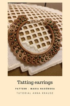 Unique jewelry made out of love and passion. by ZipperArtDesign Tatting Necklace, Tatting Jewelry, Lace Earrings, Lace Jewelry, Tatting Lace, Embroidery Jewelry, Jewelry Crafts, Hand Embroidery, Unique Jewelry