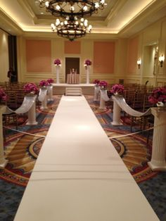 Ballroom ceremony at Ritz Carlton